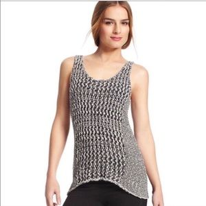CAbi 488 asymmetrical knitted tank